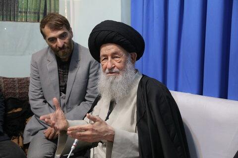 دیدار اعضای مجمع الذاکرین یارباب (س) استان تهران با حضرت آیت الله علوی گرگانی