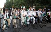 """راهپیمایی دوچرخه سواران پاکستانی برای """"حمایت از مردم فلسطین"""" +تصاویر"""