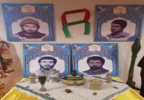 تصاویر/ نمایشگاه عکس و یادواره شهدا گیلانغرب در مدرسه علمیه مطلع الفجر
