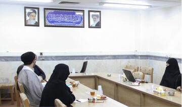 جلسه هم اندیشی مسئولان جامعه الزهرا (س) و مرکز خدمات حوزه