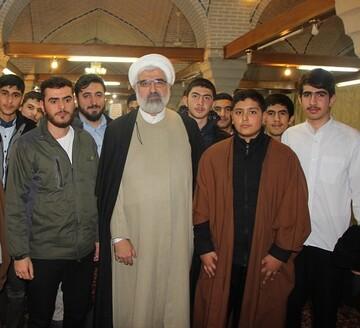 دیدار صمیمی مدیر حوزه قزوین با طلاب جوان+ عکس