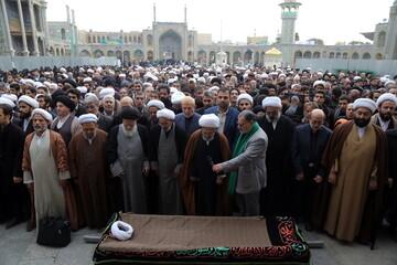 تصاویر/ مراسم تشییع پیکر مرحوم حاج شیخ عباس صالحی منش