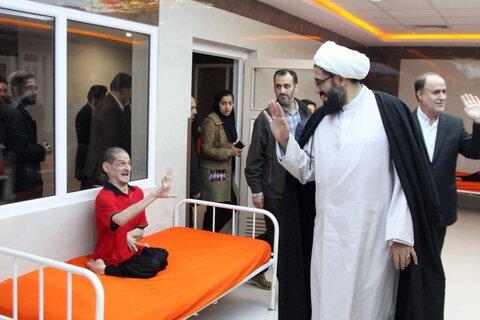 حضور امام جمعه همدان در مرکز آسایشگاه معلولینحضرت ابوالفضل(ع)