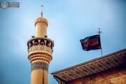 حرم حضرت علی(ع) به مناسبت فاطمیه اول سیاهپوش شد +تصاویر
