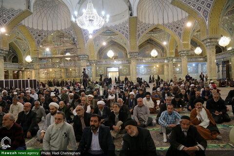 بالصور/ احتفال في ذكرة ولادة الإمام الحسن العسكري (ع) بقم المقدسة