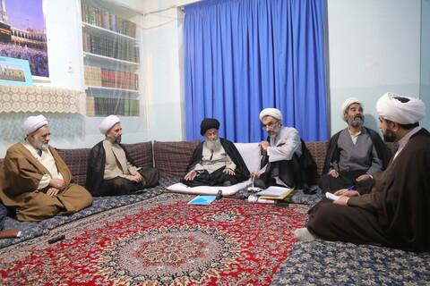 دیدار اعضای هیئت مرکز اقتصاد مقاومتی حوزه با حضرت آیت الله علوی گرگانی