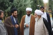 تصاویر/ حضور آیت الله علماء در جمع طلاب مدرسه امام خمینی(ره) کرمانشاه