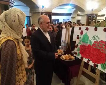 نمایشگاه نقاشی «حضرت رسول(ص)» در ترکمنستان برپا شد
