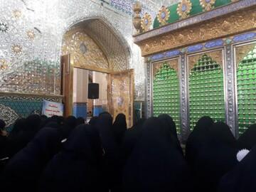 بانوان طلبه استان یزد در سوگ فاطمه معصومه(س) عزاداری کردند+ عکس