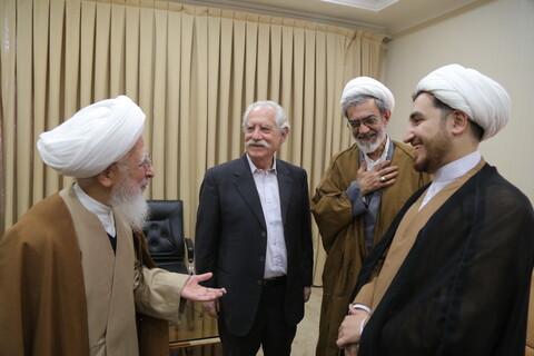 تصاویر / دیدار پروفسور پیرونه اسلام شناس مشهور ایتالیایی با آیت الله العظمی جوادی آملی