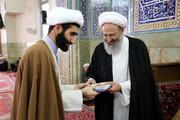تصاویر/ تجلیل از پژوهشگران برتر در درس خارج فقه آیت الله فقیهی