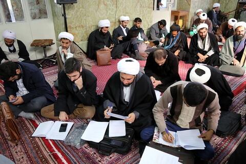 تجلیل از پژوهشگران برتر در درس خارج فقه آیت الله فقیهی