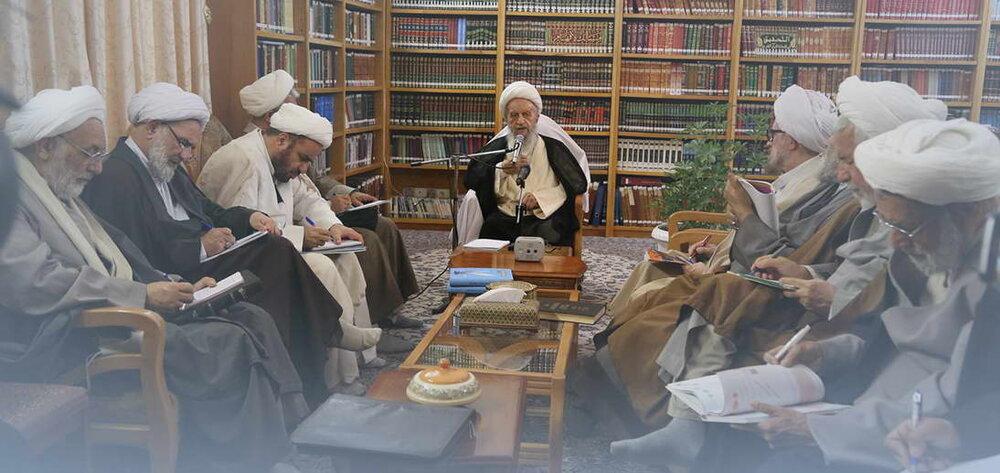 برگزاری اولین جلسه درس خارج فقه آیت الله العظمی مکارم در سال تحصیلی 98-99