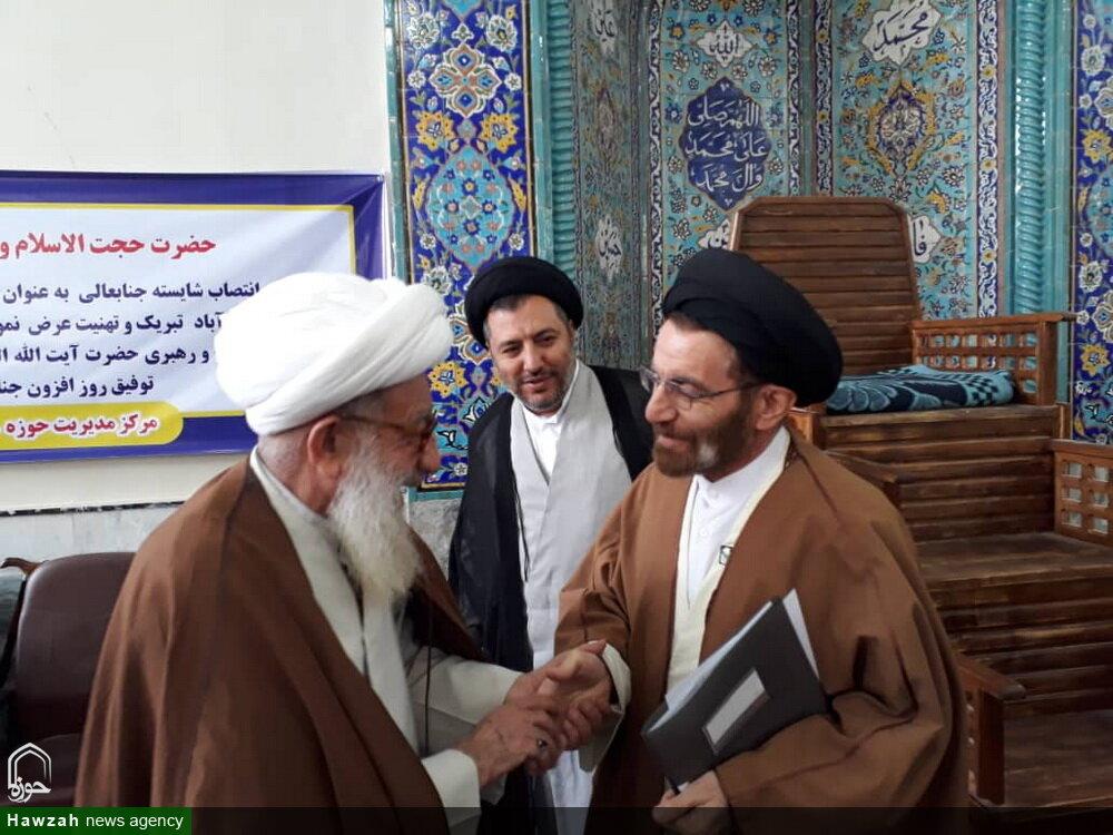 تصاویر/ حضور نماینده جدید ولی فقیه لرستان در جمع طلاب مدرسه علمیه کمالیه خرم آباد