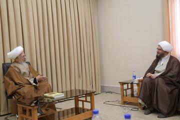 تصاویر / دیدار رئیس شورای سیاستگذاری ائمه جمعه با آیت الله العظمی جوادی آملی