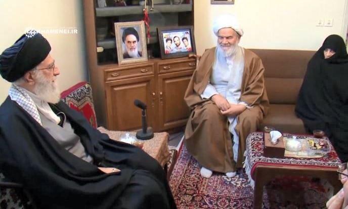 دیدار رهبر انقلاب با خانواده شهیدان اعلمی