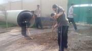 طلاب جهادی کرمانشاه به یاری محرومان خوزستان رفتند+ عکس