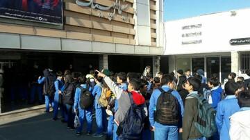 فیلم سینمایی «پرواز ممنوع» برای دانش آموزان تهرانی اکران شد+ عکس