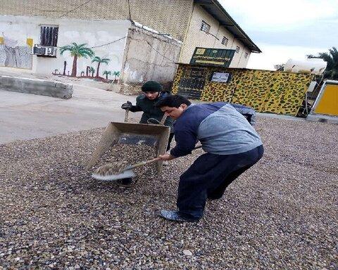 خدمت رسانی طلاب جهادی حوزه کرمانشاه در مناطق محروم خوزستان