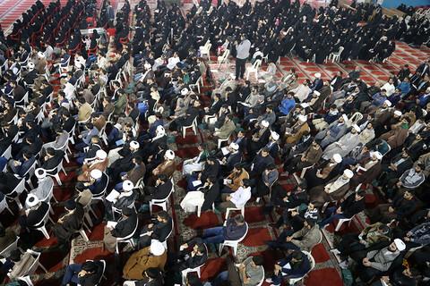 تصاویر/ گردهمایی سراسری حوزویان اهواز با سخنرانی استاد قرائتی