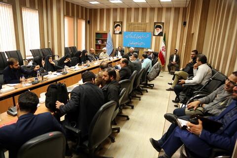 اولین نشست خبری رئیس کل دادگستری ومسئولین قضایی استان قم