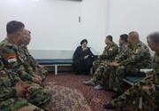 آية الله السيستاني يلتقي جرحى الجيش العراقي ويثمن تضحياتهم+ الصور