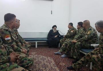 دیدار جمعی از جانبازان ارتش عراق با آیت الله العظمی سیستانی+ تصاویر