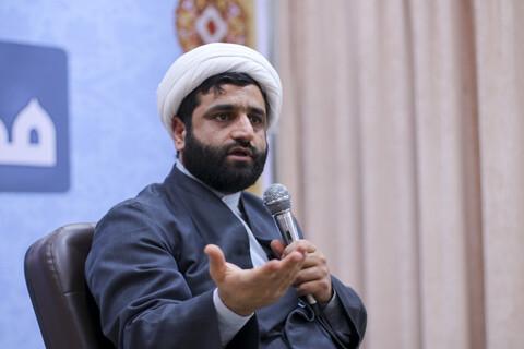 کارگاه آموزشی سواد رسانه برای طلاب و روحانیون مدرسه علمیه رضویه بیرجند با حضور حجت الاسلام محمد کهوند