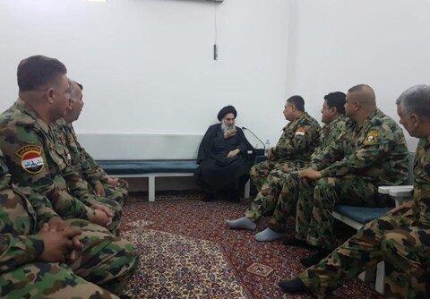 دیدار جمعی از جانبازان ارتش عراق با آیت الله العظمی سیستانی