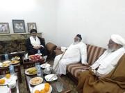 رئیس وفاق المدارس شیعه پاکستان با رهبر شیعیان این کشور دیدار کرد
