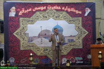 بالصور/ إقامة مجلس مدائح للشعراء في مزار السيد موسى المبرقع بن الإمام الجواد (ع) بقم المقدسة