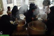 تلاش شبانه روزی طلاب خواهر پشت جبهه امدادرسانی+عکس