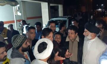 بازدید میدانی امام جمعه اهواز از خیابانهای آبگرفته شهرک دانشگاه
