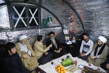 تصاویر/ شب یلدای مردم زلزله زده میانه با حضور نماینده ولی فقیه در استان آذربایجان شرقی