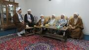 عیادت اعضای شورای بسیج اساتید و نخبگان حوزه اصفهان از شاگرد آیت الله ارباب