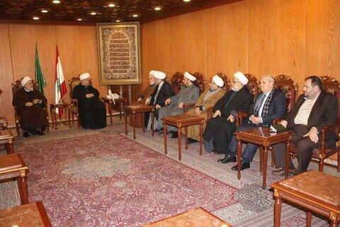 اعضای تجمع علمای مسلمان لبنان با آیت الله قبلان دیدار کردند