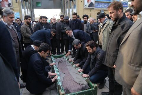 مراسم تشییع پیکر همشیره آیت الله العظمی شبیری زنجانی