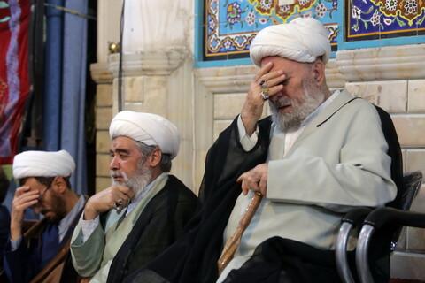 مراسم ترحیم همشیره آیت الله العظمی شبیری زنجانی در قم