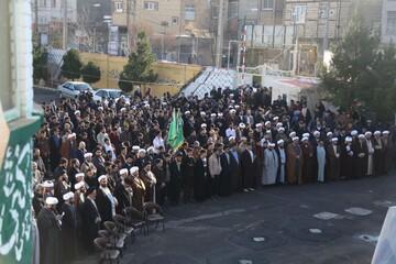 تصاویر/ تجمع طلاب و روحانیون تبریز به مناسبت ۹ دی