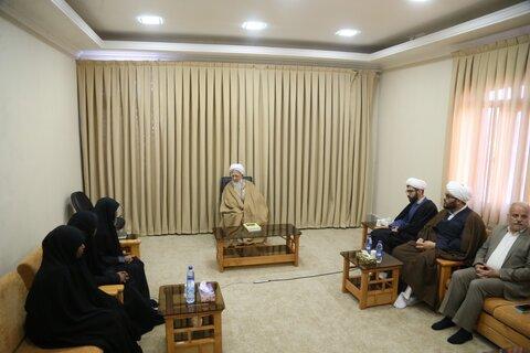 حضرت آیت الله جوادی آملی در دیدار اعضای خانواده شیخ زکزاکی