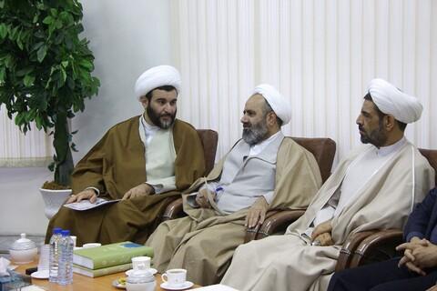 دیدار معاون پژوهشی بنیاد شهید کشور و مدیرکل بنیاد شهید قم با آیت الله اعرافی