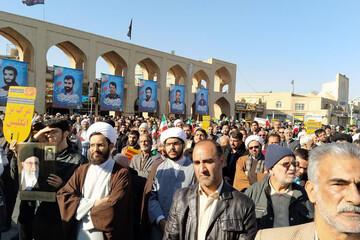 تصاویر/ تجمع گرامیداشت حماسه ۹ دی در یزد