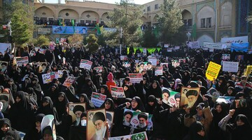 حضور طلاب جامعه الزهرا (س) در مراسم یوم الله 9 دی