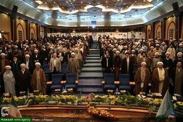 """بالصور/ الحفل الختامي للمؤتمر الوطني """"آراء العلوم القرآنية للفقيد آية الله العظمى فاضل اللنكراني"""" بقم المقدسة"""