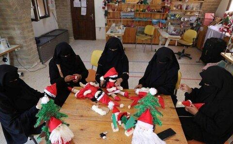 زنان مسلمان در نوار غزه شادی کریسمس را با مسیحیان شریک می شوند