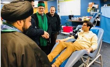 بیش از 100 داوطلب مسلمان و یهودی در انگلستان خون اهداء کردند