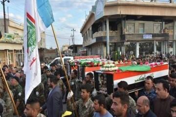 از مطالبه تعطیلی سفارت آمریکا تا حضور فرماندهان حشد الشعبی در مراسم تشییع شهدا