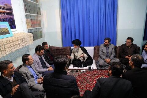 دیدار معاونین پرورشی و فرهنگی آموزش و پرورش استان تهران با حضرت آیت الله علوی گرگانی