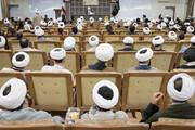 تصاویر/ گردهمایی طلاب و فضلای شاهرودی مقیم قم