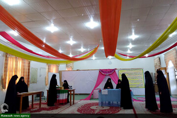 انتخابات شورای طلبگی در مدرسه الزهراء(س) مسجدسلیمان برگزار شد